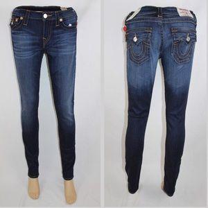 True Religion Super Skinny Jeans Midnight Blue